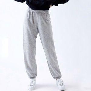 Lazy Pants Heathered Grey Fleece Sweatpants
